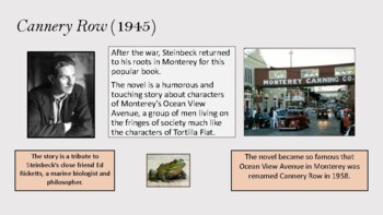 John Steinbeck's Life and Work:  A PowerPoint Presentation