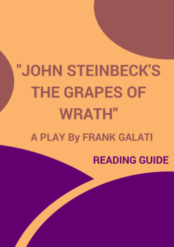 John Steinbeck's The Grapes of Wrath. A Play by Frank Galati-Reading Guide
