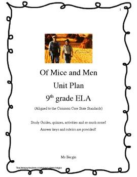 John Steinbeck's Of Mice and Men Unit Plan