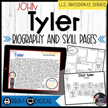 John Tyler: Biography, Timeline, Graphic Organizers, Text-based Questions