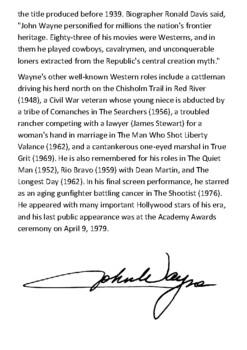John Wayne Handout