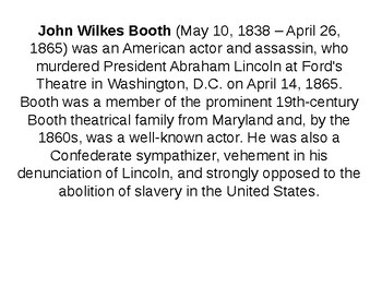 John Wilkes Booth Informative Guide