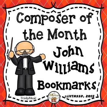 John Williams Bookmarks (Composer of the Month)