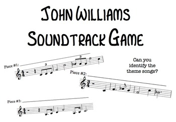 John Williams Soundtrack Music Game