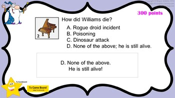 williams trivia game - elementary music - composer jeopardy, Powerpoint templates
