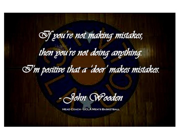John Wooden Quote Poster