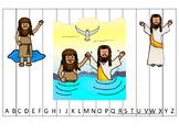 John the Baptist Alphabet Sequence Puzzle Christian Game Download. Preschool-KDG