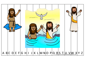 John the Baptist Alphabet Sequence Puzzle Christian Game D