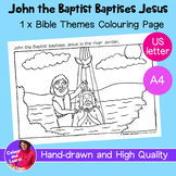 """John the Baptist/Baptism"" Bible Coloring Sheet/Colouring"