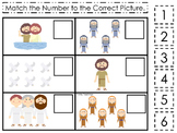 John the Baptist Match the Number printable game. Preschool Bible Study Curricul