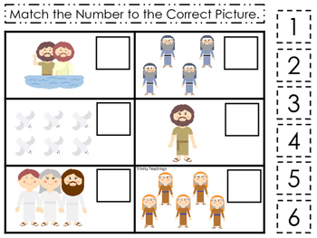 John the Baptist Match the Number printable game. Preschoo
