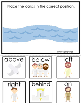 John the Baptist Positional Game printable game. Preschool
