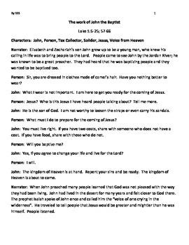 John the Baptist, The Life of John the Baptist