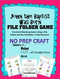 John the Baptist was Born File Folder Game (Bible Story craft)