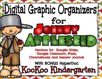 Johnny Appleseed Digital Graphic Organizers with BONUS HyperDoc!
