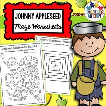 Johnny Apple Seed Maze Activities