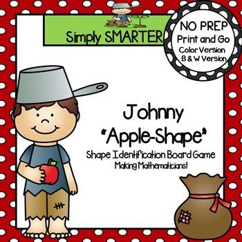 "Johnny ""Apple-Shape"":  NO PREP Shape Identification Board Game"