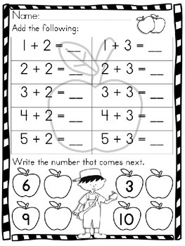 Johnny Appleseed Math Activities