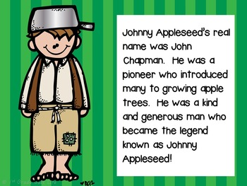 Johnny Appleseed Activities and Mini Unit