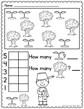 Count and Graph - Johnny Appleseed Activities