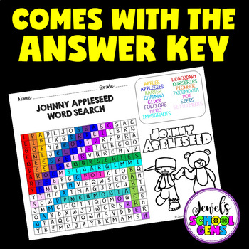 Johnny Appleseed Activities (Johnny Appleseed Word Search)