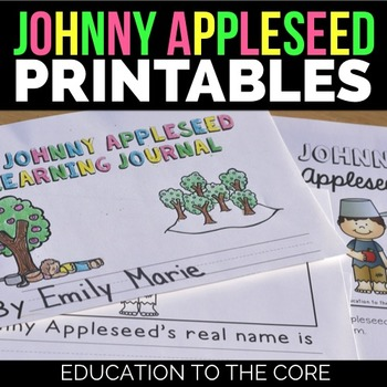 Johnny Appleseed Mini Book and Interactive Activities