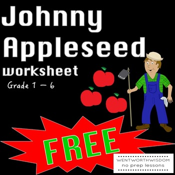 Johnny Appleseed Reading Comprehension Literacy and Writin