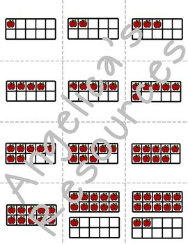 Johnny Appleseed Activities : Number Cards 1-20
