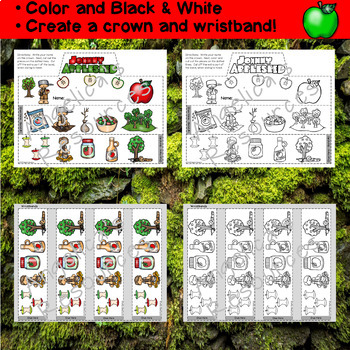 Johnny Appleseed Activities: Crowns and Wristbands - Johnny Appleseed Craft