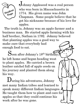 Johnny Appleseed:  A Common Core Reading and Writing Lesson