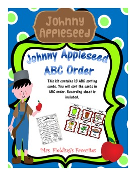 Johnny Appleseed ABC Order