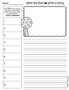 Johnny Appleseed Activities and Emergent Reader Folktales