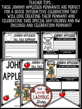 Tall Tales- Johnny Appleseed Writing Activity • Teach- Go Pennants™