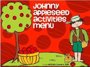 Johnny Appleseed Activities Menu