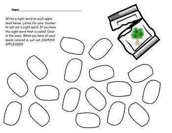 Johnny Appleseed Activities Packet