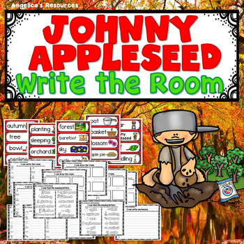 Johnny Appleseed Activities : Write the Room