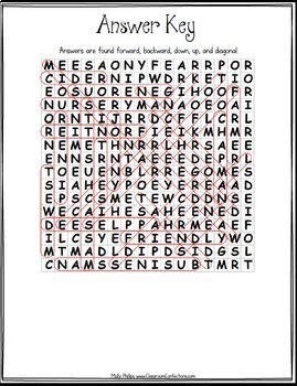 Johnny Appleseed Activity: Johnny Appleseed Word Search