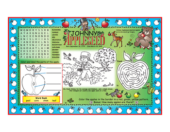 Johnny Appleseed Activity Mats