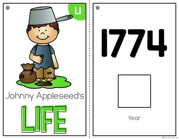 Johnny Appleseed Adapted Books ( Level 1 and Level 2 )