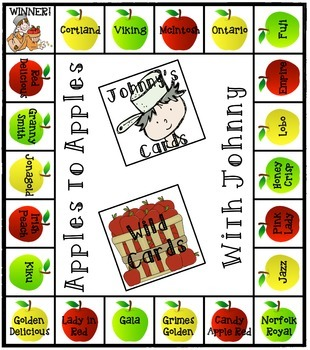 Johnny Appleseed Addition and/or Subtraction Game