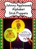 Johnny Appleseed: Alphabet Stick Puppets {Alphabet Activities and Story Telling}