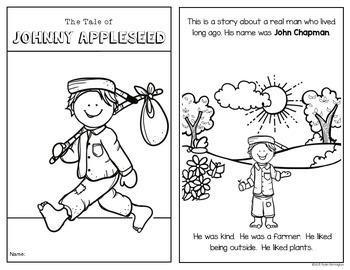 Johnny Appleseed An Emergent Reader For Kindergarten And First Grade