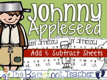 Johnny Appleseed Math - Addition & Subtraction Practice