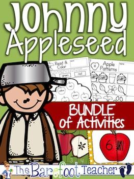 Johnny Appleseed Math & Language Arts Bundle of Activities