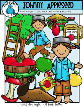 Johnny Appleseed Clip Art Set - Chirp Graphics
