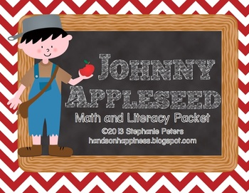Johnny Appleseed ~ Apple Themed Math and Literacy Packet