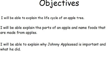 Johnny Appleseed/ Apples