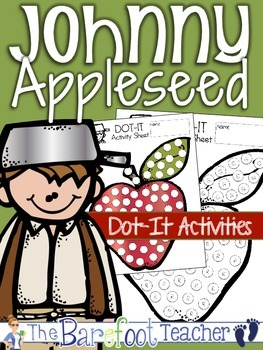 Johnny Appleseed Dot-It Activities {Letter matching, counting...}