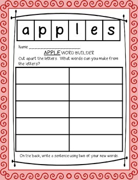 Johnny Appleseed (Apples) Primary Thematic Teaching Unit