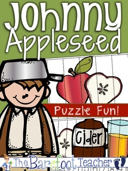 Johnny Appleseed Math - Counting & Skip Counting Puzzles